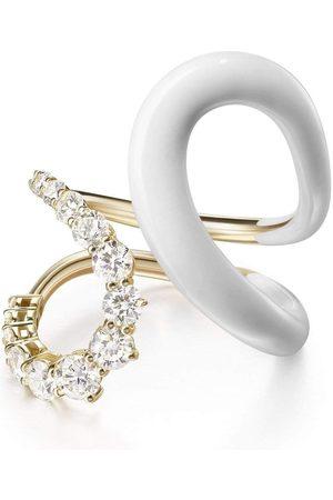 Melissa Kaye Aria Jane White Enamel Ring