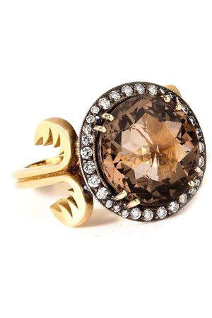 Sylva & Cie Women Rings - Smoky Topaz and Diamond Ring