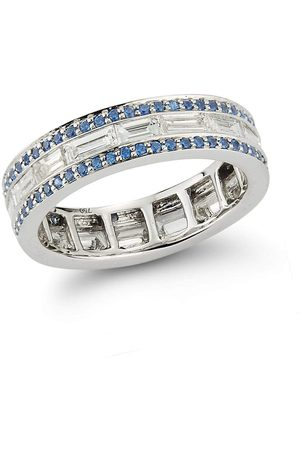 Katherine Jetter Diamond and Sapphire Origami Band Ring