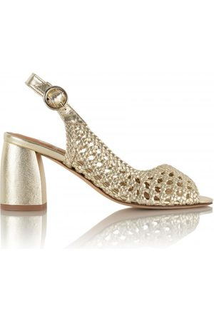 Bobbies Women Heeled Sandals - Blair - Platinum