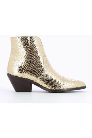 Odyl Snake skin effect cow boy boots