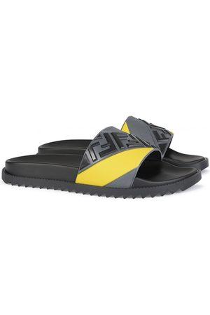 Fendi Men Sandals - Embossed Logo Slides