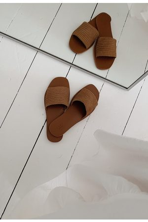 YAYA Woven suede slipper clay