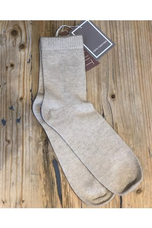 Brodie Cashmere Biscuit Cashmere Antique Bed Socks