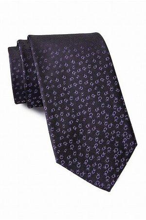 Calvin Klein Allover Tossed Logo Tie Berry