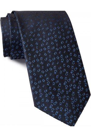 Calvin Klein Allover Tossed Logo Tie Navy