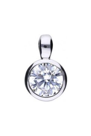 DIAMONFIRE Women Necklaces - Bezel Set Solitaire Pendant