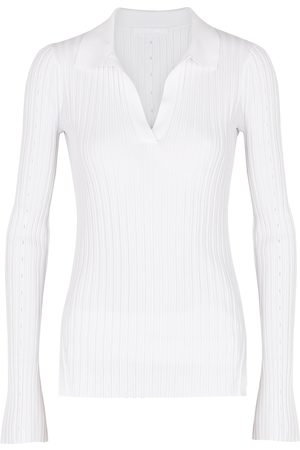 Helmut Lang Ribbed jersey polo top
