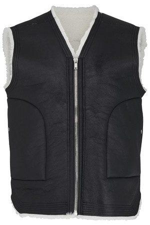 Rick Owens Men Gilets - Leather cargo vest