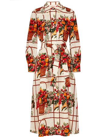 Tory Burch Printed embroidered cotton shirt dress