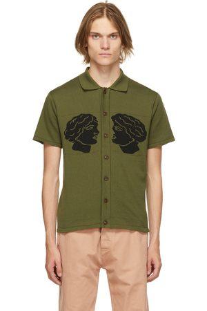 CARNE BOLLENTE Green 'Cum & Cummer' Short Sleeve Shirt