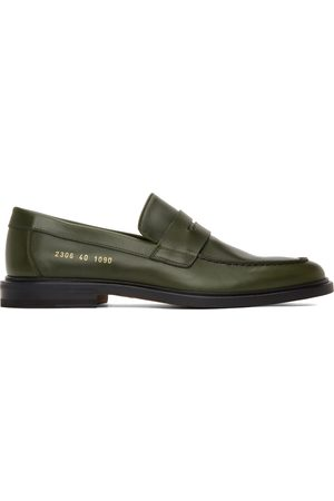 COMMON PROJECTS Green Leather Loafers