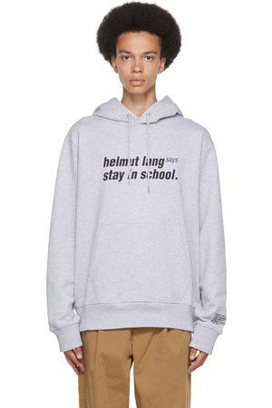 Helmut Lang Grey School Hoodie
