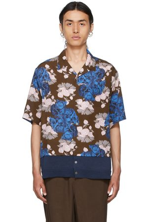UNDERCOVER Brown Floral Short Sleeve Shirt
