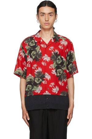 UNDERCOVER Red Floral Short Sleeve Shirt