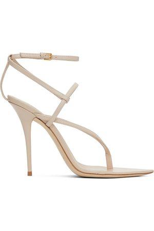 Saint Laurent Beige Instinct 110 Heeled Sandals