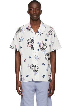 Paul Smith Off-White Floral Casual Short Sleeve Shirt