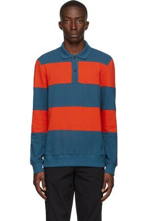 Paul Smith Blue & Orange Stripe Long Sleeve Polo