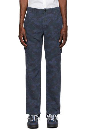 Paul Smith Blue Camo Military Cargo Pants