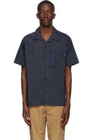 Paul Smith Navy Cotton & Nylon Short Sleeve Shirt