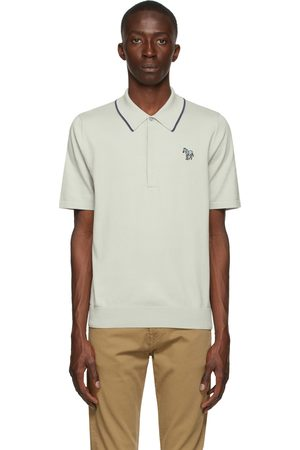Paul Smith Grey Organic Cotton Zebra Logo Polo