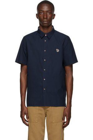 Paul Smith Navy Zebra Logo Short Sleeve Shirt