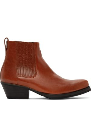 OUR LEGACY Orange Western Style Boots