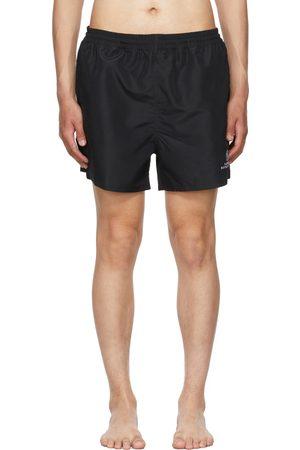 Balenciaga Black Embroidered Resorts Swim Shorts