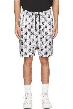 Burberry White Mythical Alphabet Silk Brazil Shorts