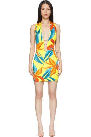 Louisa Ballou SSENSE Exclusive Yellow & Orange Sleeveless Ring Dress
