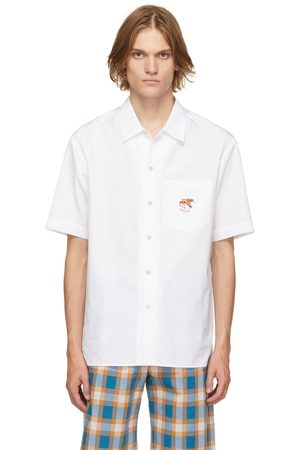 Gucci White Freya Hartas Edition Embroidered Short Sleeve Shirt
