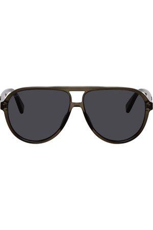 Gucci Grey Acetate Aviator Sunglasses