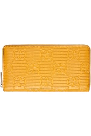 Gucci Yellow 'GG' Large Wallet