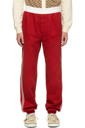 Gucci Red Military Drill Lounge Pants