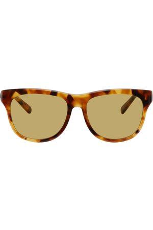 Gucci Tortoiseshell & Yellow Square Sunglasses