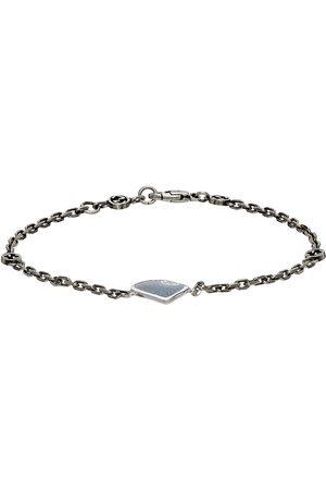 Gucci Silver & Blue Heart Interlocking G Bracelet
