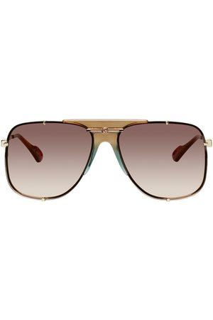 Gucci Gold & Brown GG0739 Sunglasses