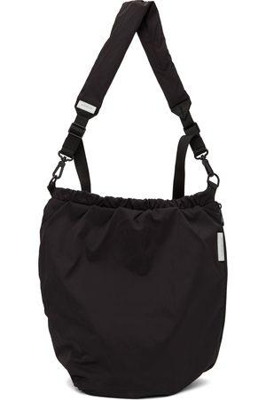 CÔTE&CIEL Black Orco Creased Messenger Bag