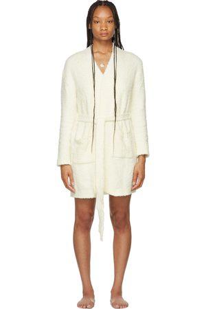 SKIMS Off-White Cozy Knit Short Robe