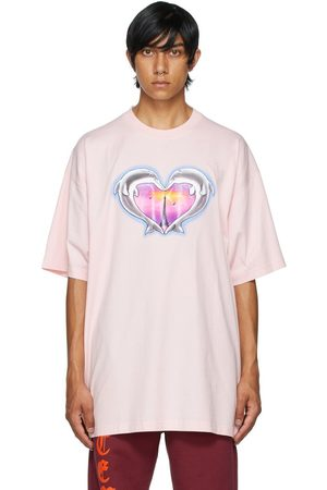 Vetements Pink Dolphins Heart Logo T-Shirt