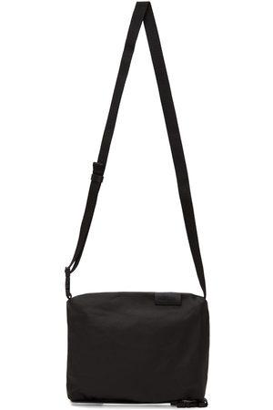 CÔTE&CIEL Black Coated Canvas Inn Messenger Bag