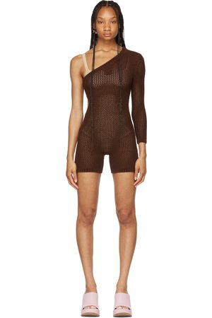 Isa Boulder SSENSE Exclusive Brown Sideways Jumpsuit