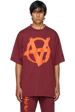 Vetements Burgundy Double Anarchy T-Shirt