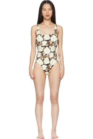 SIR Off-White Carlo Square One-Piece Swimsuit