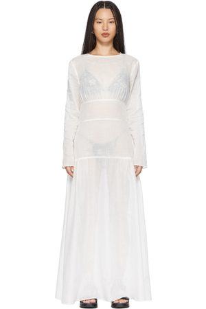 SIR White Pierre Long Sleeve Dress