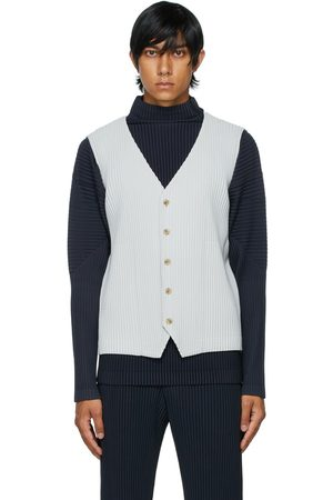 HOMME PLISSÉ ISSEY MIYAKE Grey Basics Button Vest