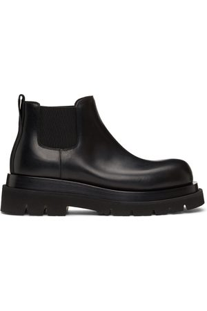 Bottega Veneta Black Low Lug Chelsea Boots