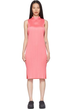 PLEATS PLEASE ISSEY MIYAKE Pink Bouquet Colors Sleeveless Dress