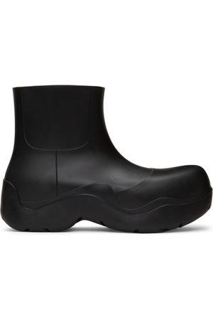 Bottega Veneta Black Matte Puddle Chelsea Boots