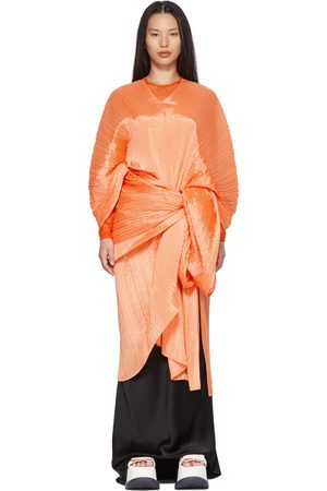 PLEATS PLEASE ISSEY MIYAKE Women Scarves - Orange Bouquet Colors Madame T Scarf